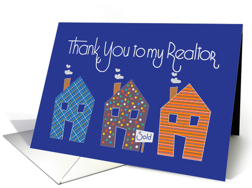 Thank You To My Realtor Trio Of Patterned Houses Sold