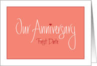 first date anniversary cards