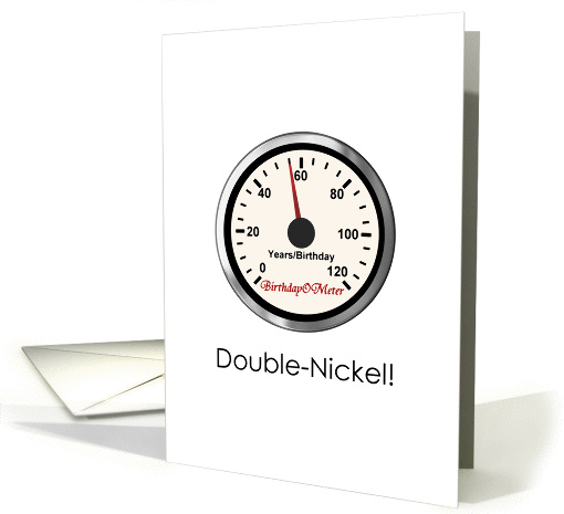 55th Birthday Double Nickel A Birthdayometer Card 1337040