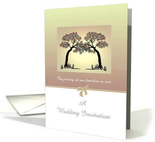 Wedding Invitation Blended Family Two Trees Intertwined Card