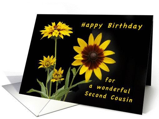 Happy Birthday Second Cousin Rudbeckia Flowers Card 1295770