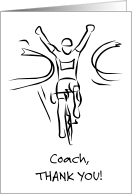 Thank You Cards for Biking Coach from Greeting Card Universe