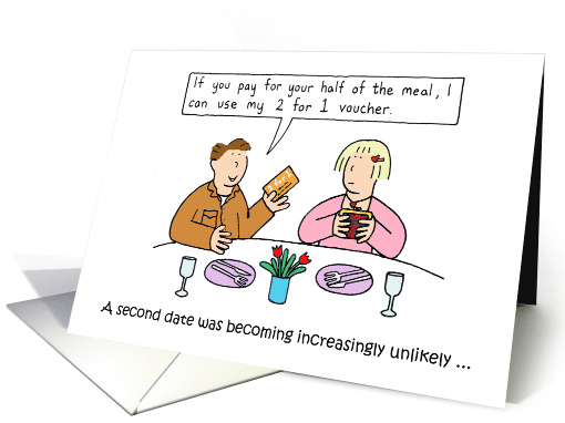 First Date Anniversary Humor Card 1433208