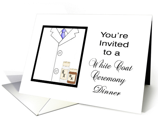 Pharmaceutical White Coat Ceremony Dinner Invitation card