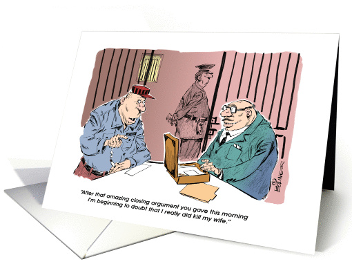 Funny Smooth Talking Attorney Happy Birthday Cartoon Card