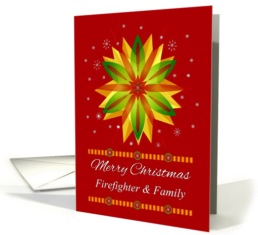 Firefighter Amp Family Merry Christmas Unique Colourful