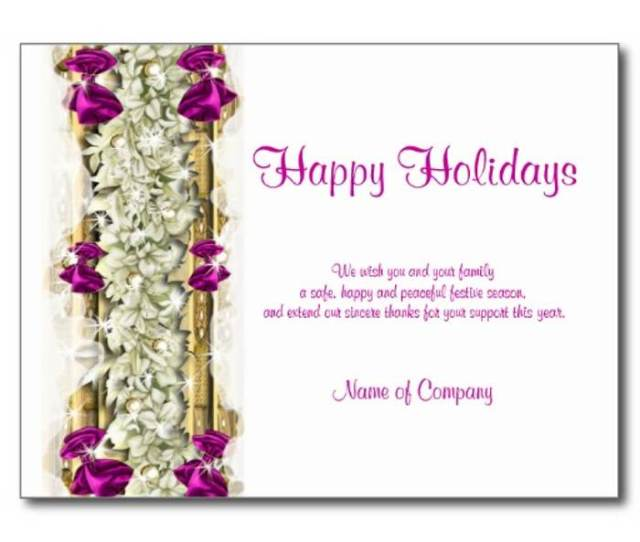 Christmas Card Sayings Business