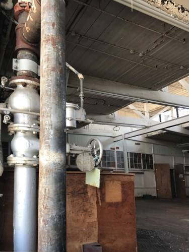 Interior of original portion of Grey Hosiery Mill