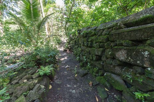 Fragment of a wall at Leluh on Kosrae, Micronesia - The Mystery of Nan Madol – Greetings from the Past