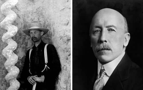 Frederick C. Kenyon, left Frederic G. Kenyon , right - Daemonelix - Devil's Corkscrews - Greetings from the Past