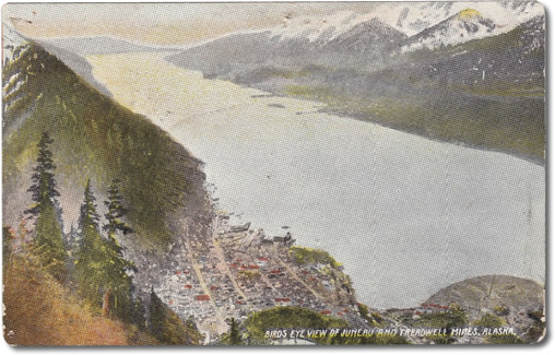 Birds Eye View of Juneau and Treadwell Mines, Alaska