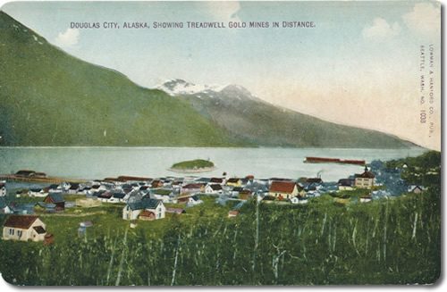 Douglas City, Alaska, Showing Treadwell Gold Mines in Distance