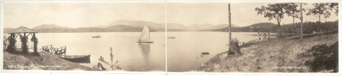 Lake Toxaway - 1911 Photo of Lake Toxaway from Shelter Oaks Photo from the Library of Congress