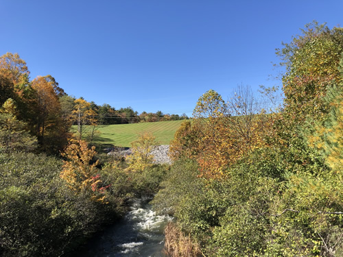 The dam that creates Lake Toxaway