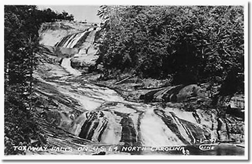 Old Postcard of Toxaway Falls