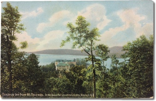 Old Postcard of Toxaway Inn from Mount Toxaway