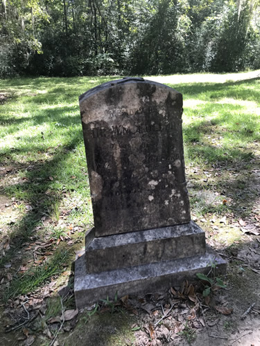 Grave marker Memory of …Wm Fuller By Old Sheldon Church Ruins