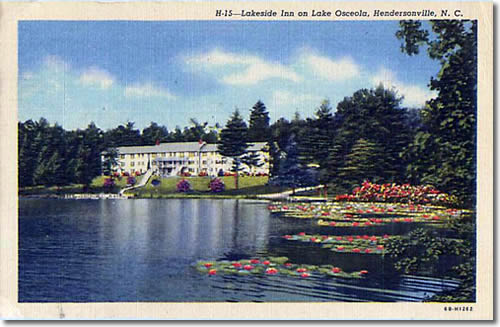 Lakeside Inn on Lake Osceola, Hendersonville, N.C.