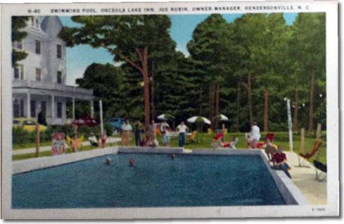 Swimming Pool, Osceola Lake Inn, Joe Rubin Owner Manager Hendersonville, NC