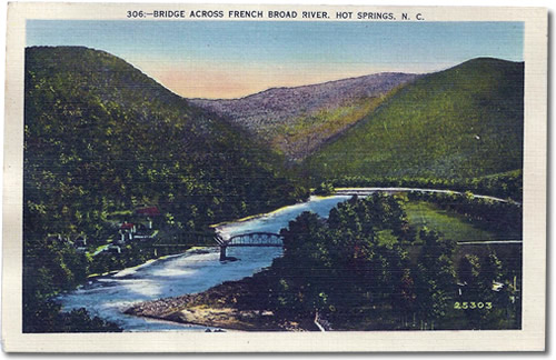 Bridge Across French Broad River, Hot Springs, NC