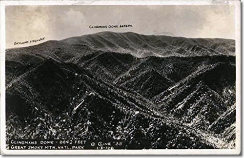 Old Postcard of the View from Clingmans Dome