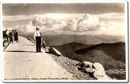 Old Photo Postcard of Clingmans Dome