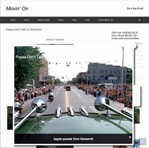 Movin' On episode Please Don't Talk to the Driver Apple Festival Parade