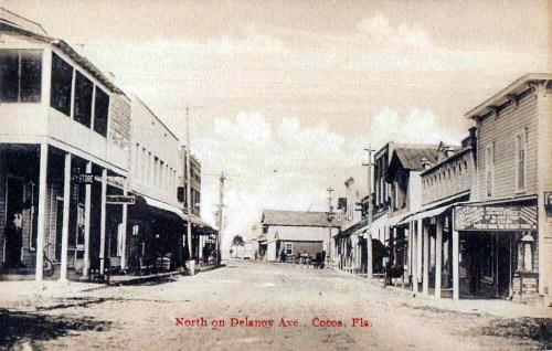 Postcard of Delanoy Ave Cocoa, Florida
