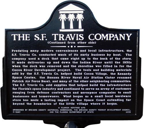 The S. F. Travis Company History Marker