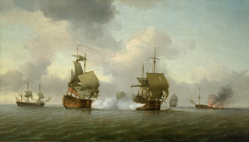 The Capture of the Glorioso by Charles Brooking