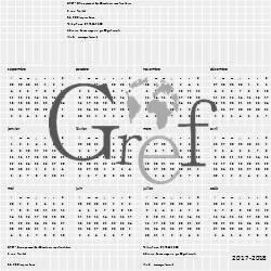 Le calendrier du GREF