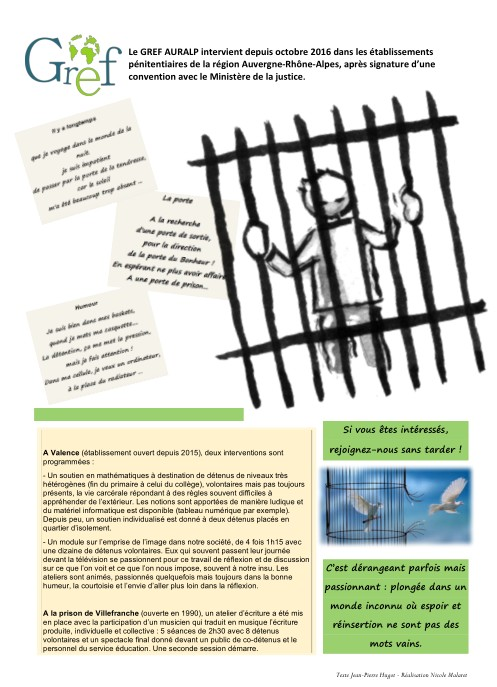 Le GREF dans les prisons