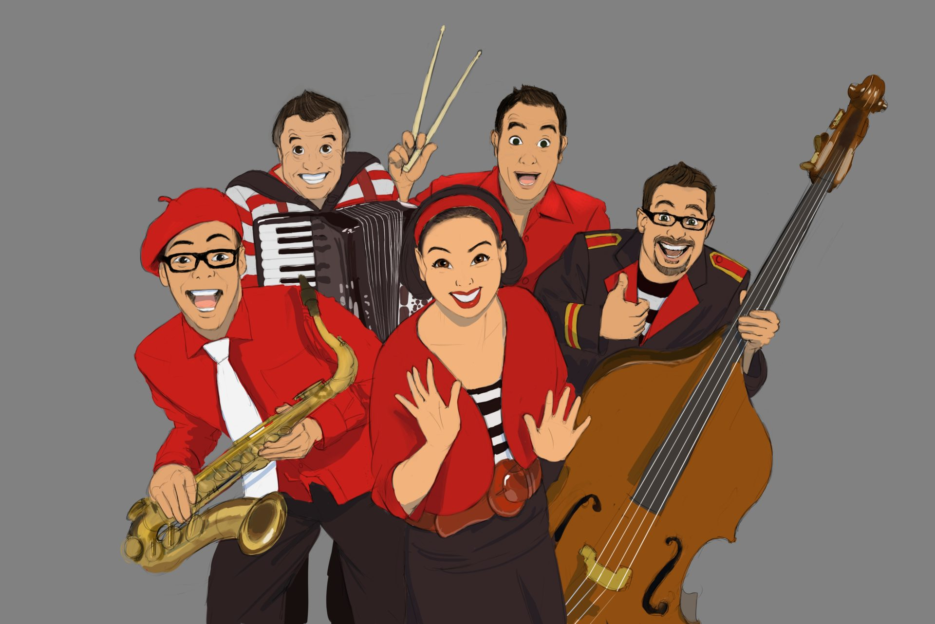 Illustration work for Lah-Lah children's music band.