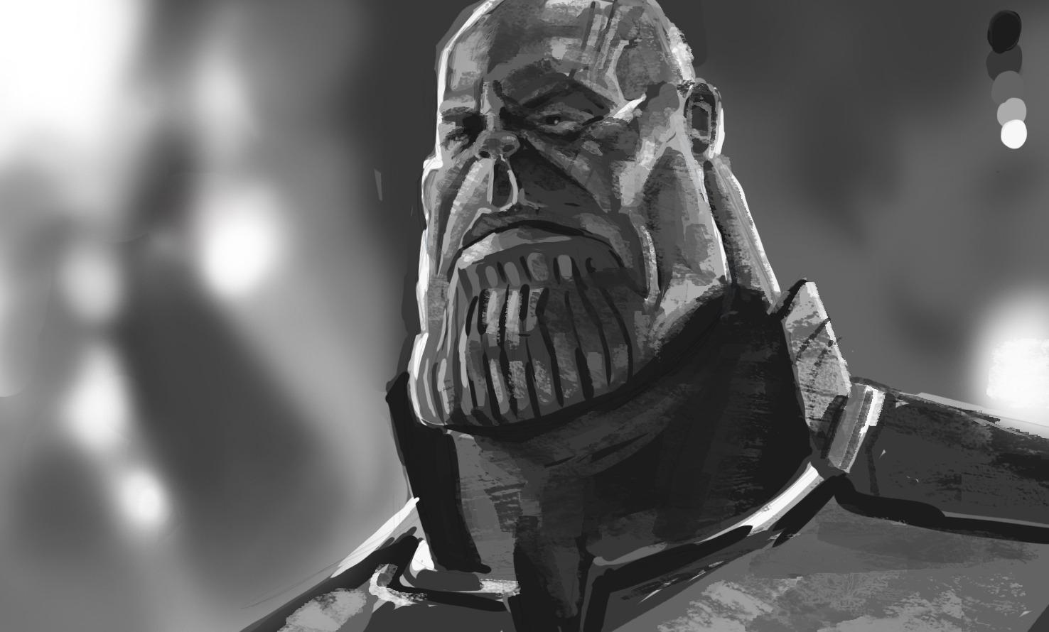 Thanos caricature study