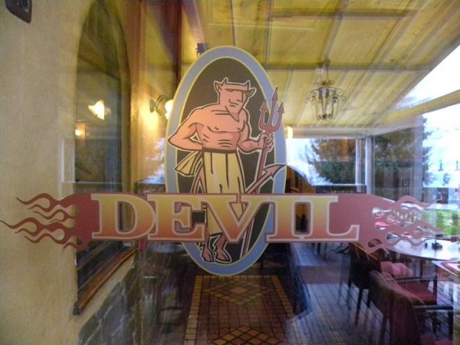 Devil Cafe at Lake Bled