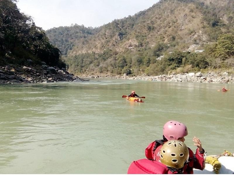 River rafting on the Ganges near Rishikesh