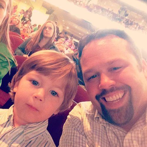 Link & Dad at the Circus