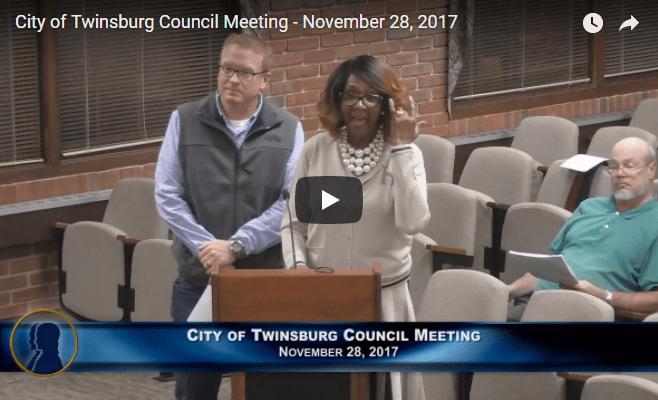 City of Twinsburg Council Meeting - November 28, 2017