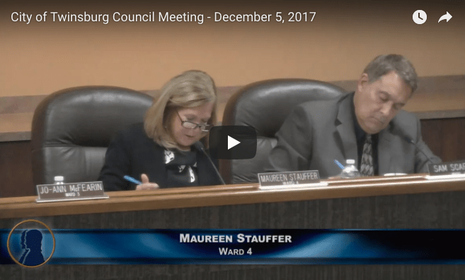 City of Twinsburg Council Meeting - December 5, 2017