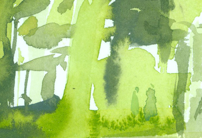 Greg Betza_Central Park Watercolor Detail 1