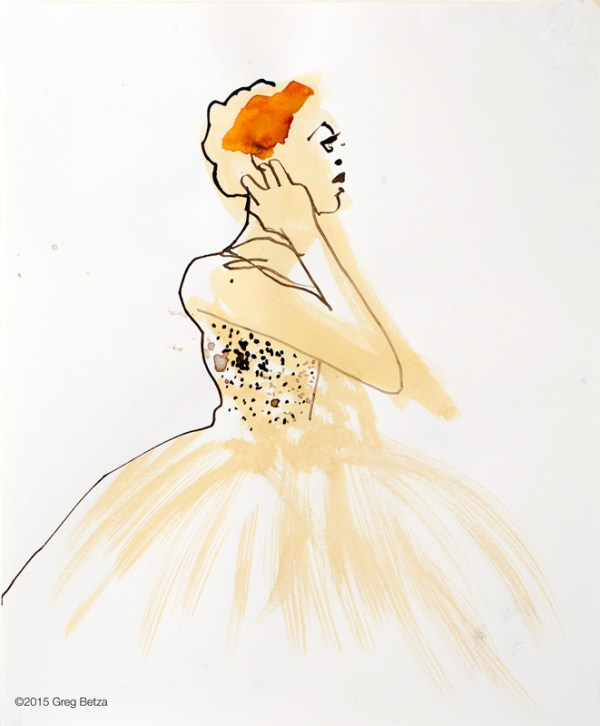 Greg Betza Pen & Ink fashion illustration