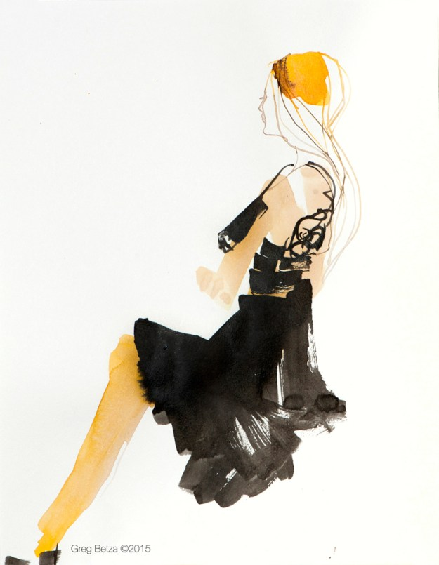 Pen & Ink fashion illustration