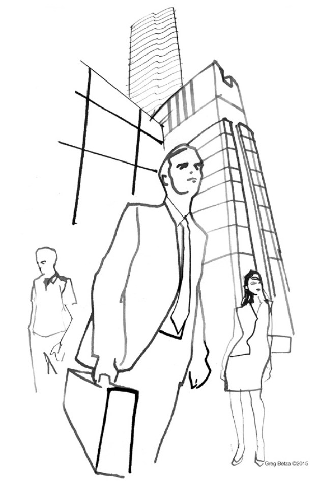 Architectural line illustrations