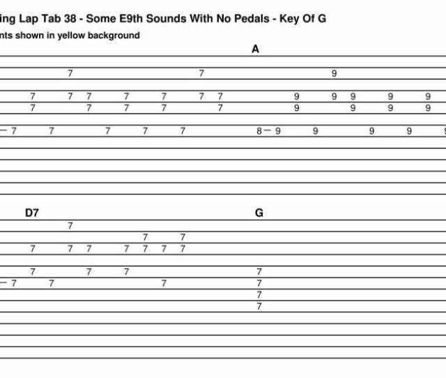 The Steel Guitar Forum View Topic 12 String C6 Lap Steel 4 Tabs Tom Brumley Cool Chords