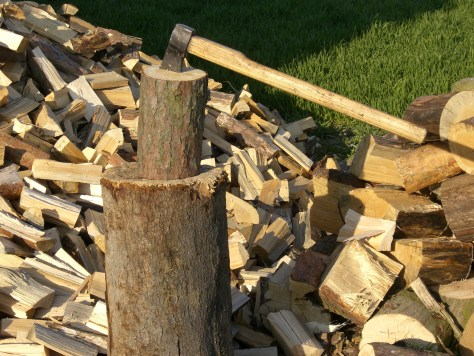 What have I learned from chopping wood? It's not possible to chop this much wood without learning something, right?