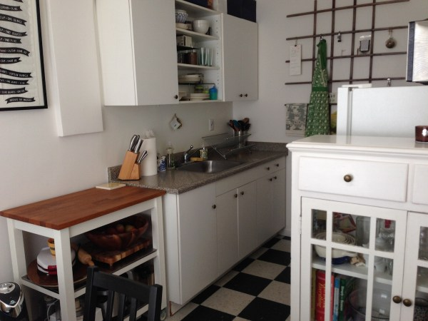 studio apartment kitchen Life in a Studio Apartment with my Wife and Two Sons