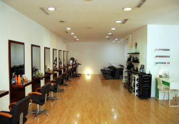 Instalaciones del salon de peluquería Gregorio Porras en Córdoba