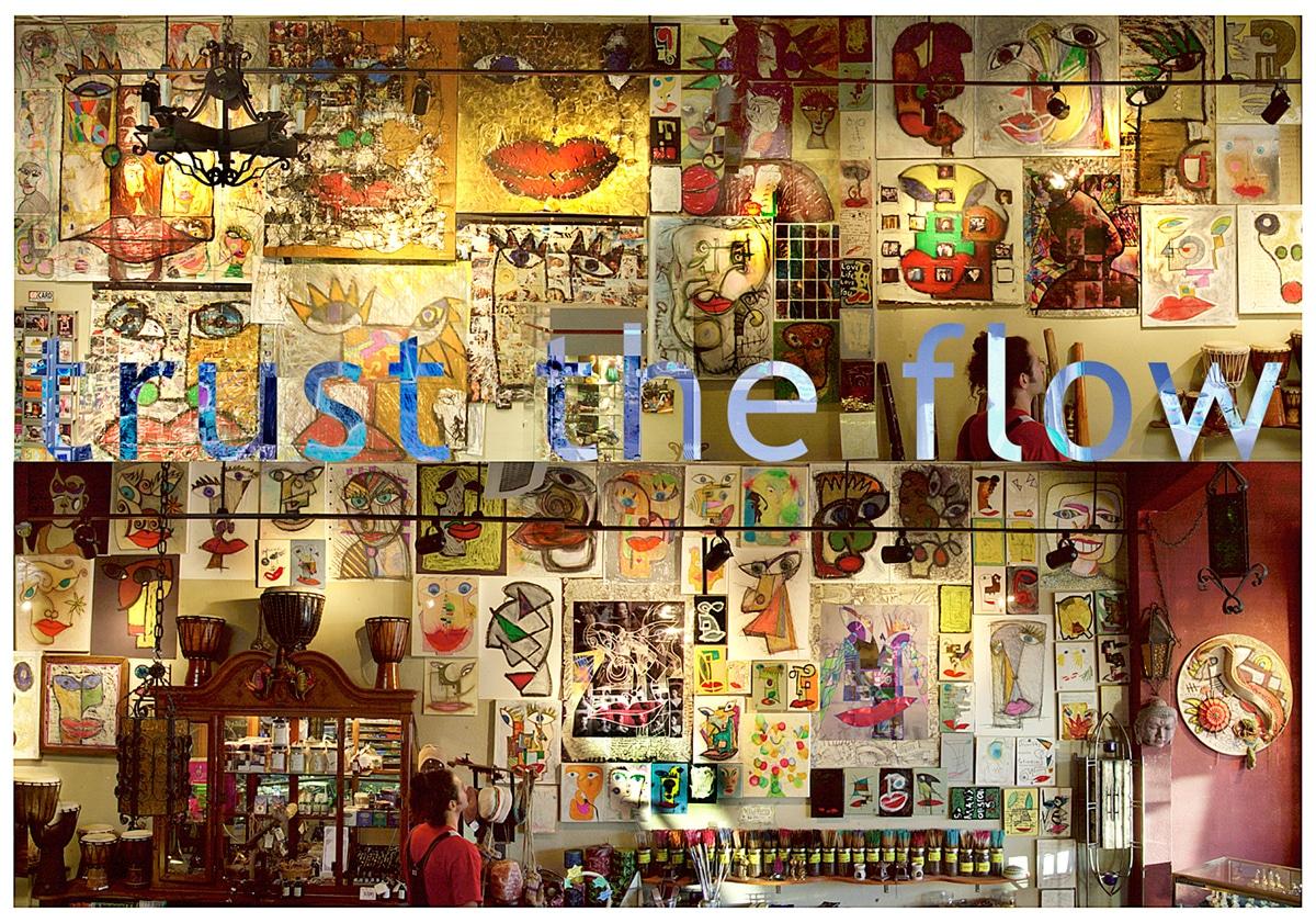 trust the flow gallery installation