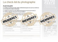 check-list du photographe Réussir ses photos de vacances