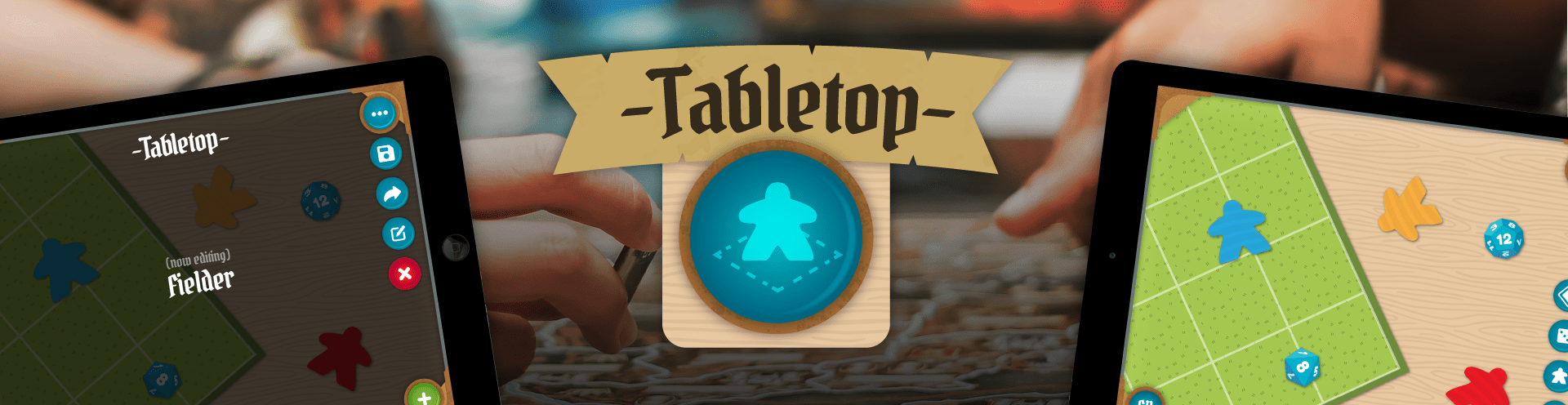Tabletop User Interface Header